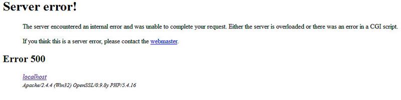 500 Internal Server Error In WordPress