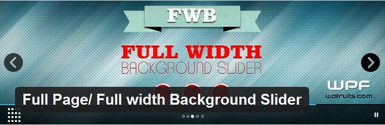Full Page Full width Background Slider